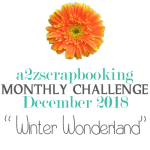 a2z scrapbooking december 2018 challenge