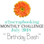 a2z scrapbooking july 2018 challenge